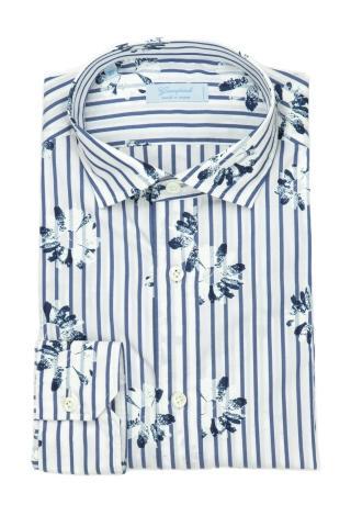 Camicia bacchettata con fantasia fiore