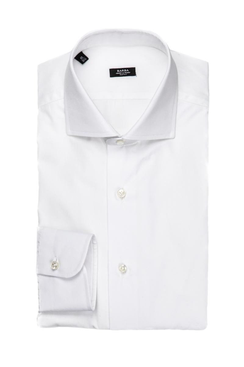 camicia etichetta nera in popeline di cotone