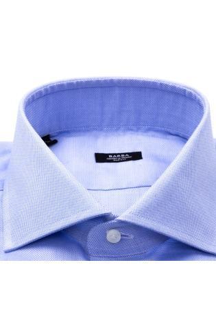 camicia tramata in cotone etichetta nera