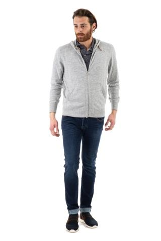 FELPA FULL ZIP IN CASHMERE