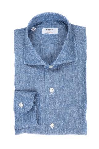 Camicia in lino-cotone linea culto