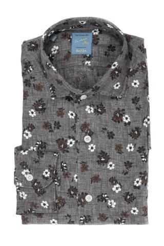 Camicia floreale in lino
