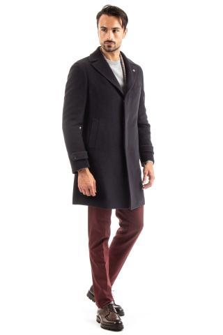 Cappotto monopetto in lana-alpaca
