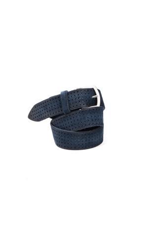 Cintura in camoscio traforato