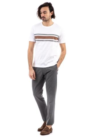 T-SHIRT IN COTONE RIGHE PIAZZATE