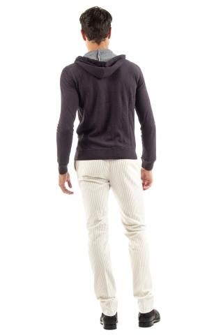 felpa con zip in cotone-cashmere