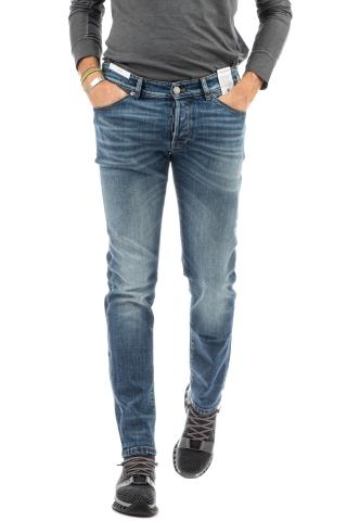 JEANS DENIM SUPER SLIM FIT CON SBAFFETTATURE