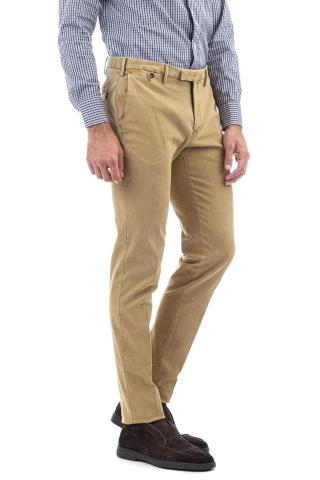 Pantalone in cotone oxford super slim fit