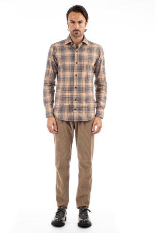 camicia sartoriale in flanella check