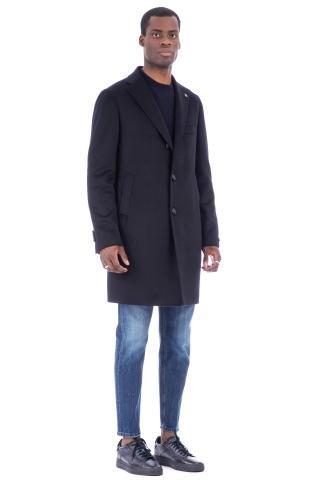 Cappotto in lana modello baronetto
