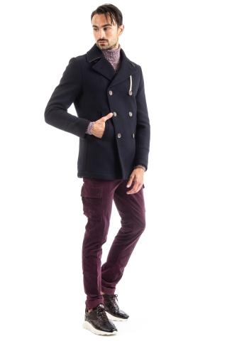 PEACOAT DOPPIOPETTO IN LANA ANTI ACQUA