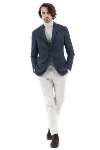 GIACCA K-JACKET IN COTONE TRAMATO