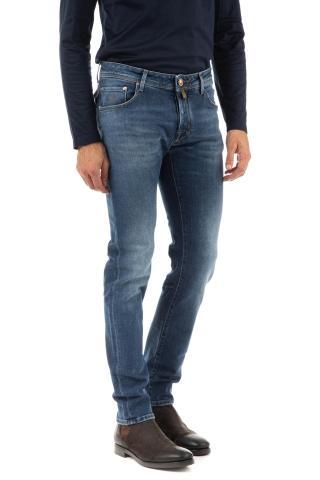 Jeans j622 slim comfort etichetta in pelle marrone