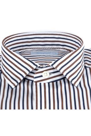 Camicia sartoriale bacchettata in cotone