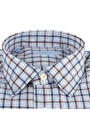 Camicia sartoriale check in cotone