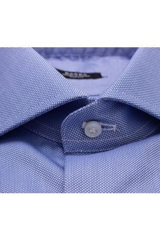 Camicia sartoriale in cotone tramato etichetta nera