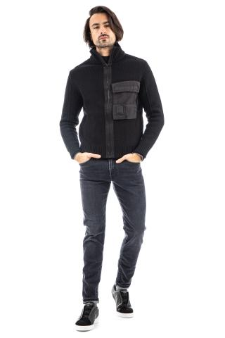 Cardigan full zip in lana