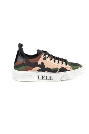 SNEAKERS-SLIP ON IN NYLON CAMOUFLAGE