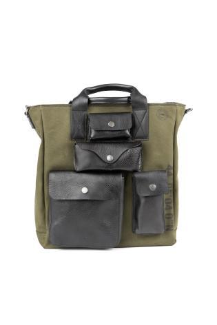 SHOPPING BAG IN TESSUTO MILITARE