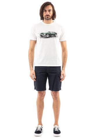 Tshirt in cotone con auto dipinta a mano