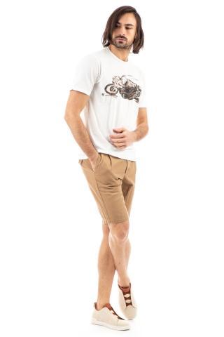 Tshirt in cotone con moto dipinta a mano