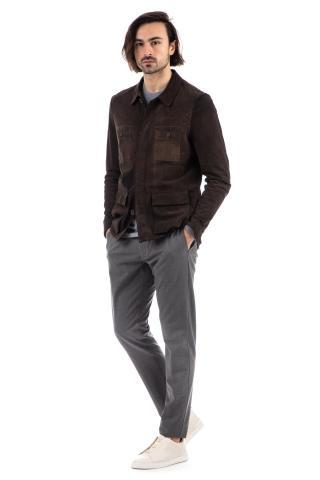 overshirt in camoscio anticato