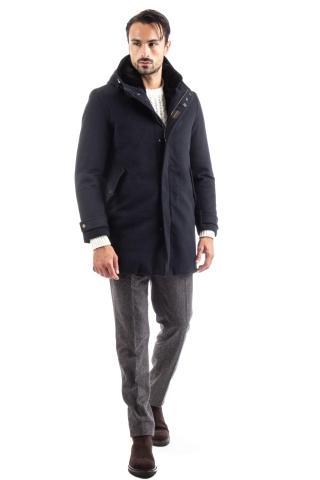 cappotto in cashmere loro piana con interno in pelliccia