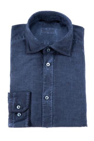 Camicia in voile di cotone regular fit