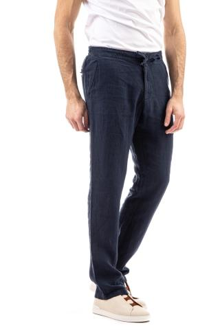 Pantalone in lino con coulisse