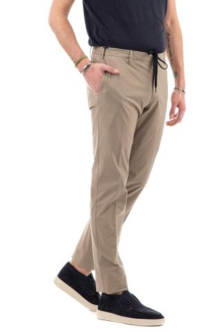 PANTALONE IN POPELINE STRETCH SUPERSLINGHT CON COULISSE