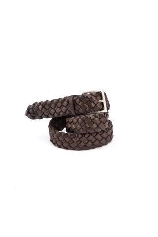 Cintura intrecciata in nabuck