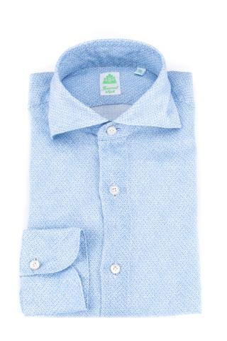Camicia in lino micro fantasia modello tokyo