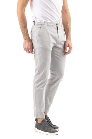 Pantaloni in cotone stretch sateen jungle skinny fit