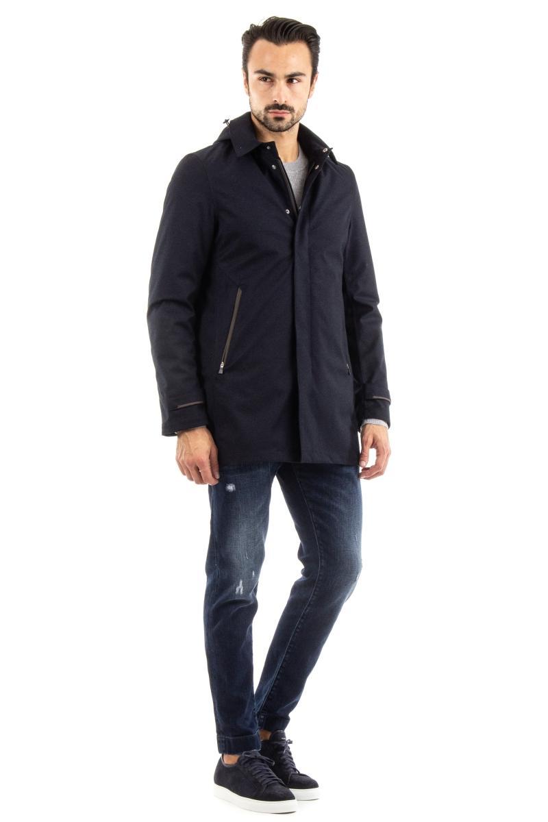 piumino-cappotto linea laminar in lana anti acqua