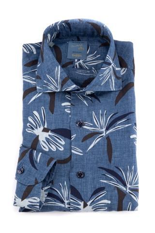 Camicia floreale in lino dandylife