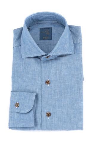 Camicia denim in cotone-lino dandylife