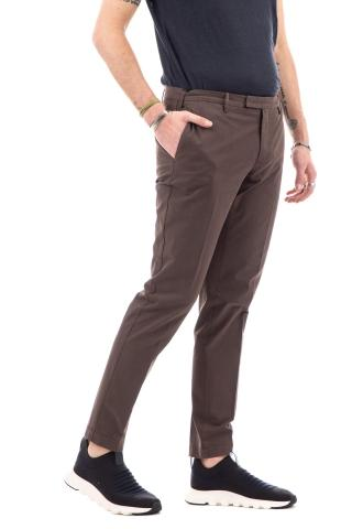 Pantalone in gabardina di cotone skinny fit