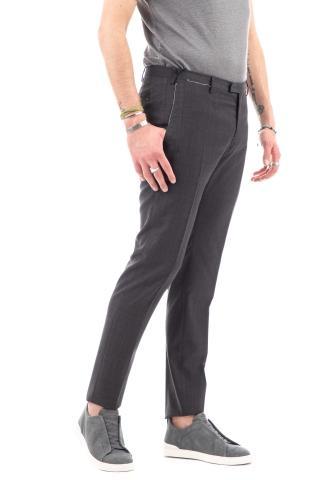 Pantaloni in lana light super 100's fantasia check