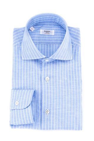Camicia rigata in lino-cotone culto