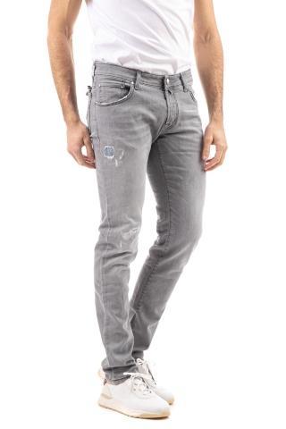 Jeans grigio j622slim comfort con micro rotture