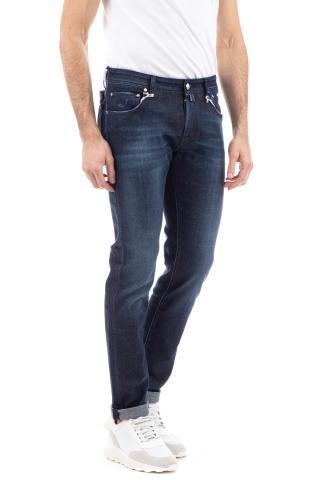 Jeans denim etichetta pelle blu j622slim comfort