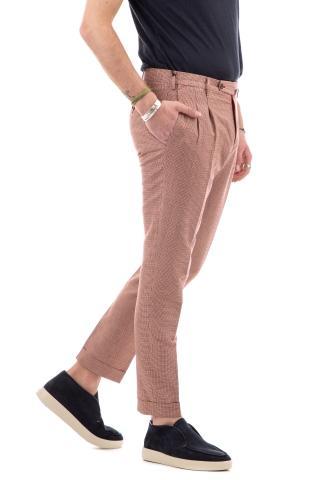 Pantalone in lino-cotone mod. straight