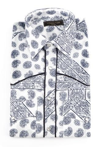 Camicia in cotone stampa esclusiva