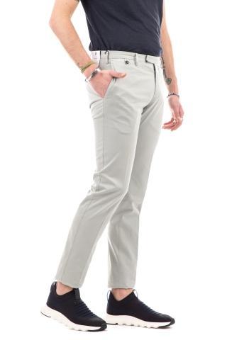 Pantalone in cotone-seta super slim fit
