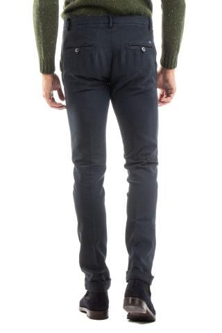 pantalone in cotone diagonale mod. milano