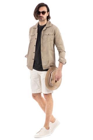 overshirt in cotone-lino