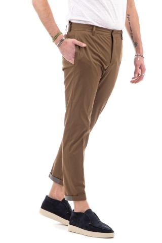 PANTALONE STRETCH TECHNO COTTON GABARDINE CON CATARIFRANGENTE