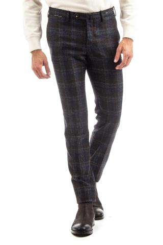 PANTALONE IN LANA CHECK SUPERSLIM FIT