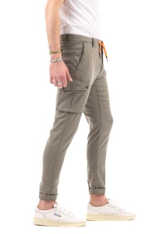 Pantalone chile athletic in cotone-lyocell