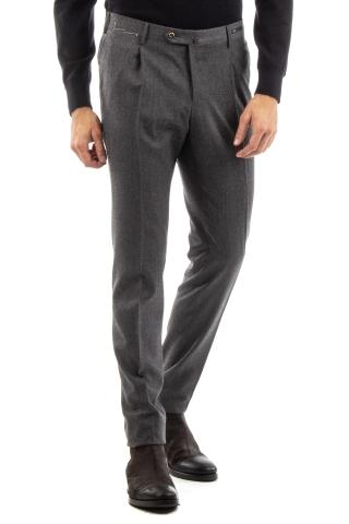 PANTALONI IN LANA-CASHMERE CON PENCES SUPERSLIM FIT